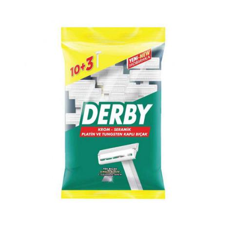 Derby Tek Tıraş Bıçağı Poşet 10+3 Hediye