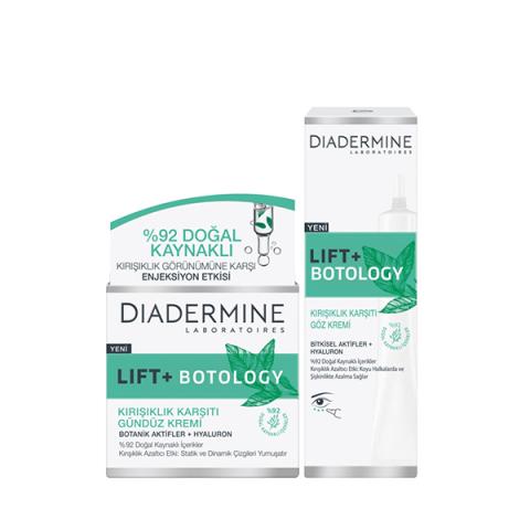 Diadermine Lift + Botology Gündüz Kremi 50Ml + Göz Kremi 15Ml 2'Li Set
