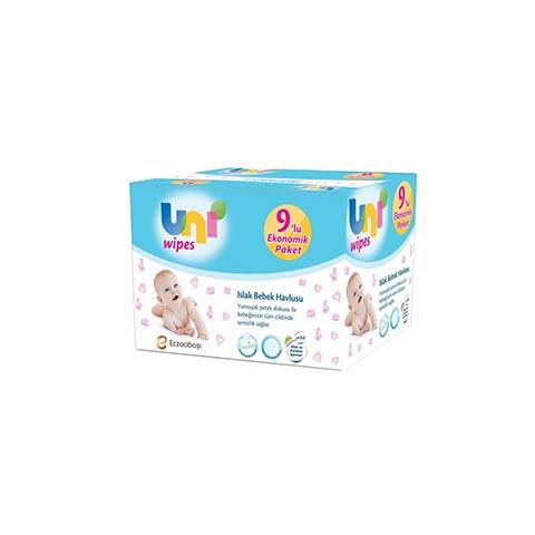 Uni Baby Wipes Islak Havlu 60lı 9lu Paket