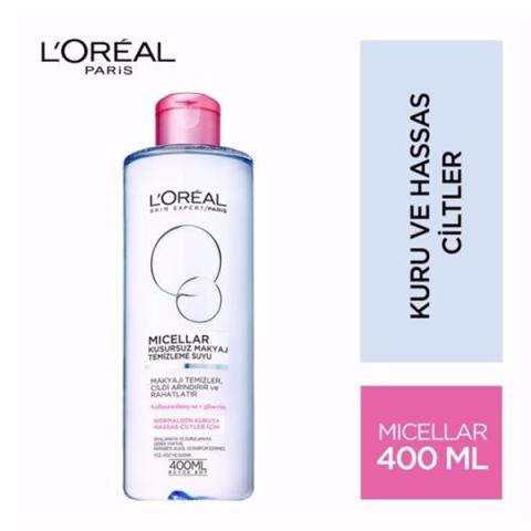 Loreal Paris Dermo Expertise Hassas Ciltler için Kusursuz Makyaj Temizleme Suyu 400 ml