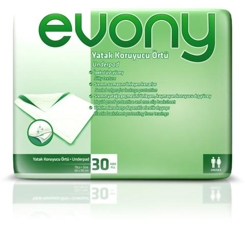 Evony Yatak Koruyucu Örtü 60X90 30 Adet