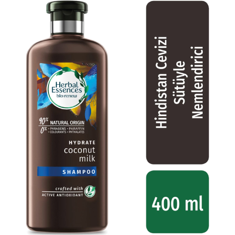 Herbal Essences Şampuan Nemlendirici Hindistan Cevizi Sütü 400 ml