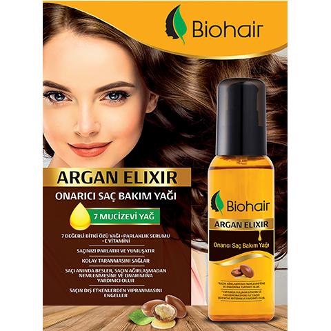Biohair Onarıcı Argan Saç Bakım Yağı 100ml Bio hair