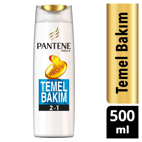 Pantene Şampuan 500 ml 2 si 1 Arada Temel Bakım
