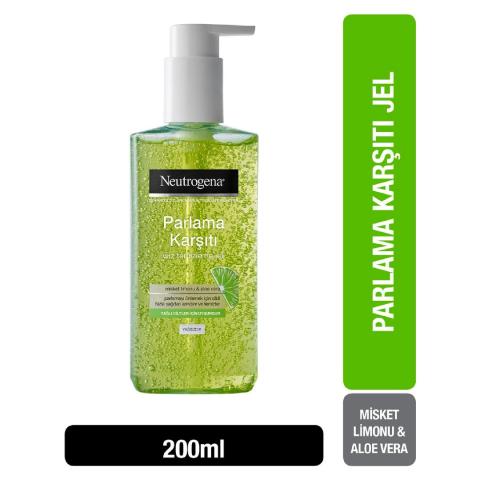 Neutrogena Parlama Karşıtı Yüz Temizleme Jeli 200 ml