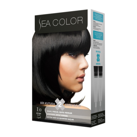 Sea Color Saç Boyası Siyah Set 1.0