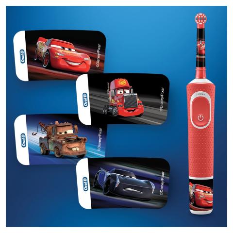Oral B D100 Şarj Edilebilir Diş Fırçası + Aile Paketi Cars 2li