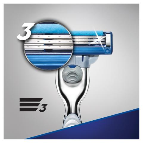 Gillette Mach3 Turbo Tıraş Makinesi + 1 Yedek Bıçak Özel Seri 2up