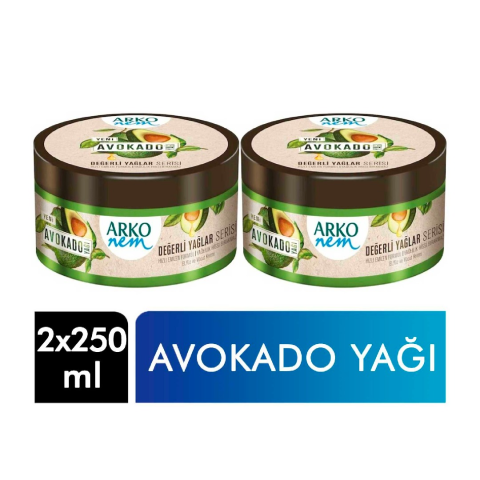 Arko Nem Krem 250 +250 Ml Avokado Yağı 2li El Ve Vucut Kremi
