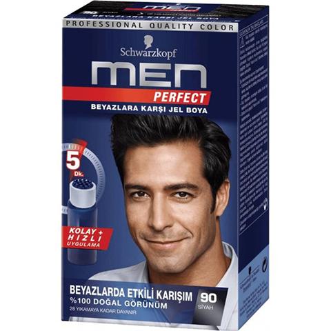 Schwarzkopf Men Perfect 90 Siyah Saç Boyası