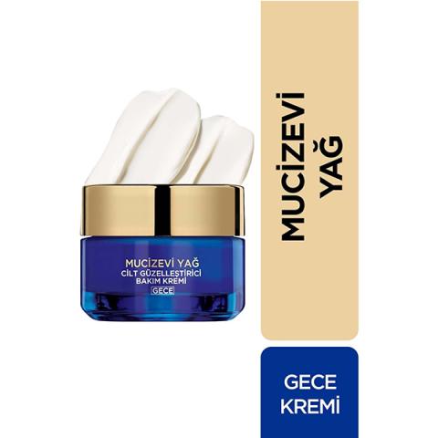 Loreal Paris Mucizevi Yağ Gece Bakım Kremi Dermo Expertise 50 ml