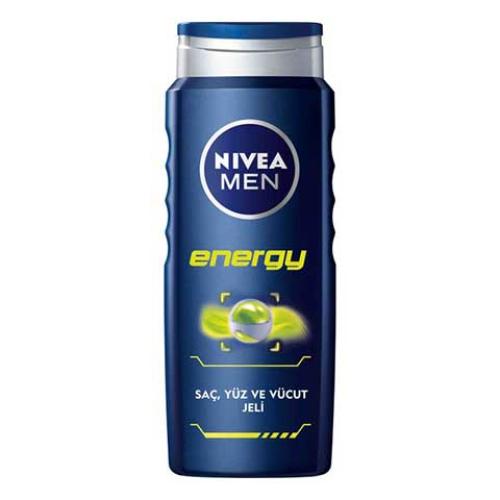 Nivea Men Duş Jeli Energy Saç & Yüz Ve Vücut Jeli 500 ml