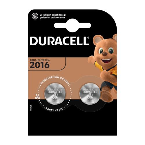 Duracell Düğme Pil 2016 2'Li 3 Volt