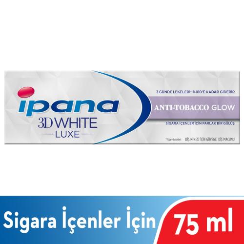 İpana Diş Macunu 3 Boyutlu Beyazlık Luxe  Anti-Tobacco Glow Sigara İçenler İçin 75ml