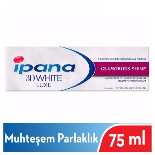 İpana Diş Macunu 3 Boyutlu Beyazlık Luxe Glamorous Shine Muhteşem Parlaklık 75ml