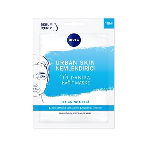 Nivea 10 Dakika Urban Skin Nemlendirici Kağıt Yüz Bakım Maskesi 28gr