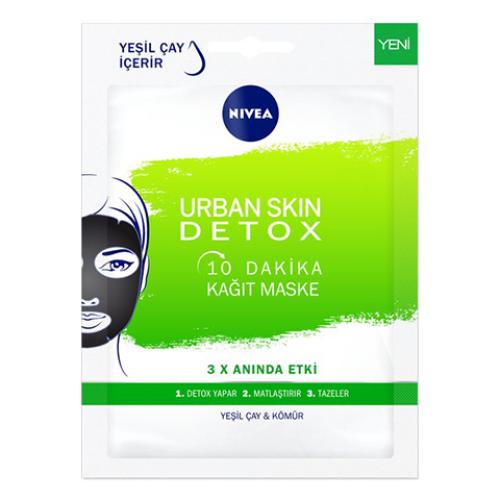 Nivea 10 Dakika Urban Skin Detox Kağıt Yüz Maskesi