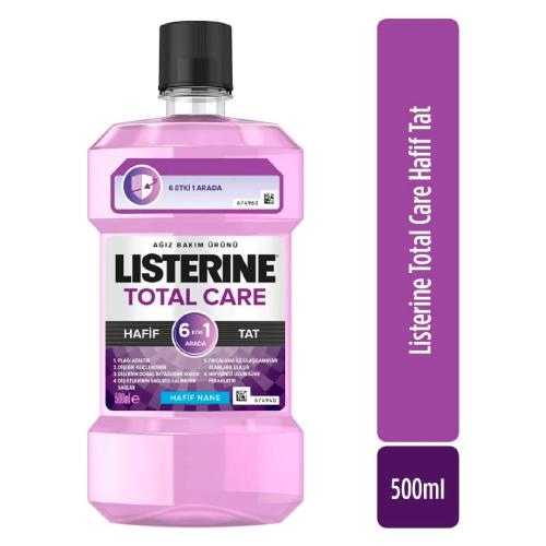 Listerine Total Care 6 Etki 1 Arada Nane Aromalı Ağız Bakım Suyu 500ml