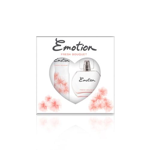 Emotion Fresh Bouqet Bayan Parfüm Seti Edt 50ml + 150ml Deodorant Kadın Kofre Set