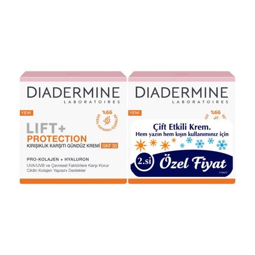 Diadermine Lift + Protection Kırışıklık Karşıtı Gündüz Kremi GKF30 50 ml + 50 ml 2'li Set
