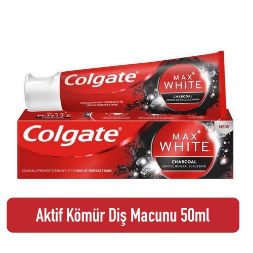 Colgate Optic White Aktif Kömür Diş Macunu 50ml