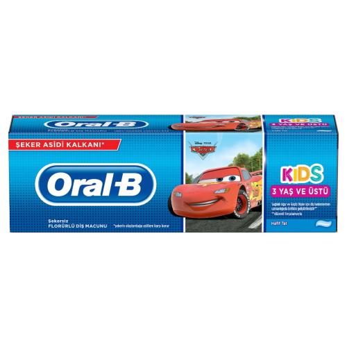 Oral B Çocuk Diş Macunu Stages Cars 75 ml 3+ Yaş