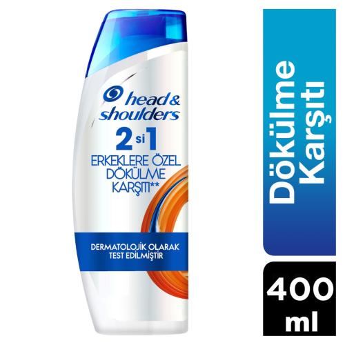 Head & Shoulders Şampuan 400 ml 2 si 1 Erkeklere Özel Saç Dökümelerine