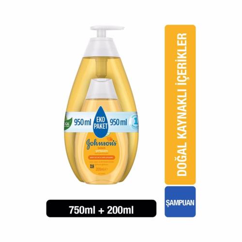 Johnsons Baby Bebek Şampuanı 750 ml + 200 ml