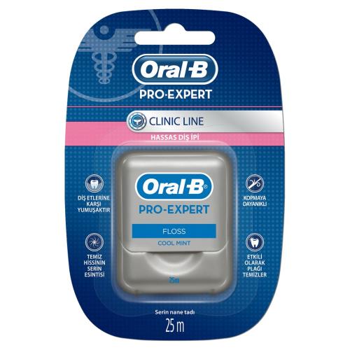Oral B Diş İpi Pro Expert Clinic Line 25mt Hassas Dişler İçin