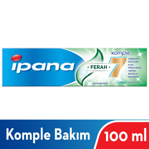 İPANA KOMPLE 7 DİŞ MACUNU 100ml HAFİF NANE