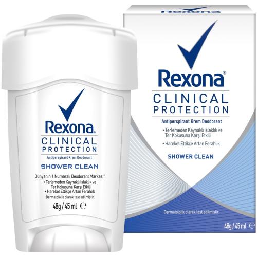 Rexona Kadın Deo Stick Clinical Protection Shower Clean 45ml