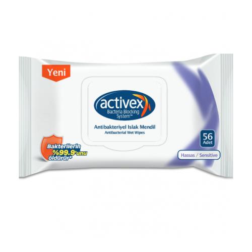 Activex Antibakteriyel Islak Havlu Hassas 56lı